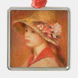 Mujer joven en un gorra (aceite en lona) adornos
