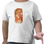 Mujer joven en un gorra (aceite en lona) camiseta