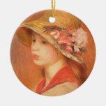 Mujer joven en un gorra (aceite en lona) ornamentos para reyes magos