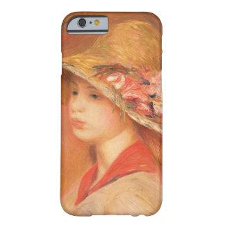 Mujer joven en un gorra (aceite en lona) funda de iPhone 6 barely there