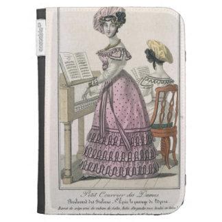 Mujer joven en un vestido rosado del organdí arreg