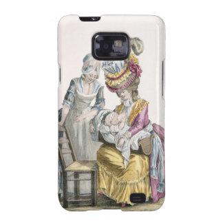 """Mujer joven en un vestido """"un la Levite"""" que amama Samsung Galaxy SII Carcasas"""