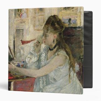 """Mujer joven que se pulveriza la cara, 1877 carpeta 1 1/2"""""""