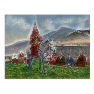 Mujer kazaja tarjetas postales