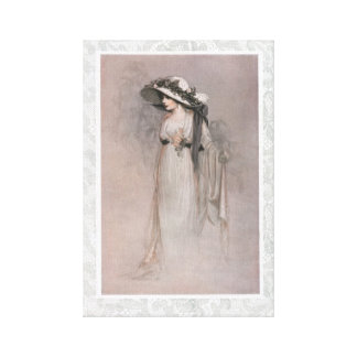 Mujer magnífica del Victorian en gorra Lona Envuelta Para Galerías