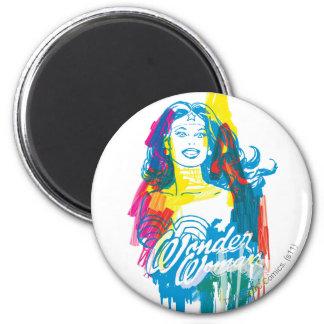 Mujer Maravilla 1 colorido Imán Redondo 5 Cm