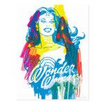 Mujer Maravilla 1 colorido Postales