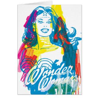 Mujer Maravilla 1 colorido Tarjeta De Felicitación