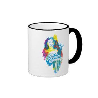 Mujer Maravilla 1 colorido Taza De Dos Colores