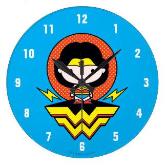 Mujer Maravilla de Chibi con los lunares y el Reloj Redondo Grande