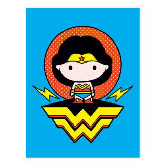 Mujer Maravilla de Chibi con los lunares y el Tarjetas Postales