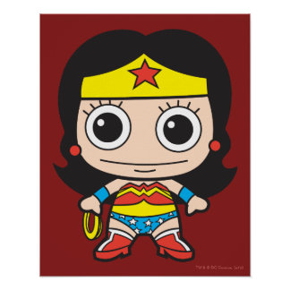 Mujer Maravilla de Chibi Póster