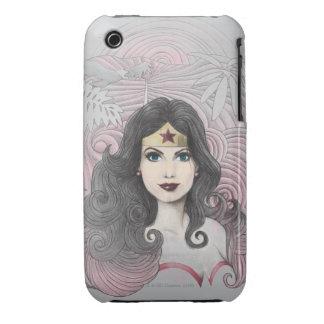 Mujer Maravilla Eagle y árboles Case-Mate iPhone 3 Protector