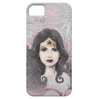 Mujer Maravilla Eagle y árboles Funda Para iPhone 5 Barely There