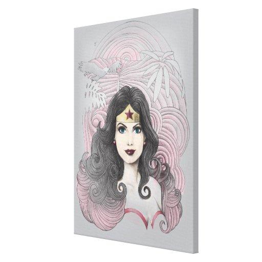 Mujer Maravilla Eagle y árboles Impresión En Lona Estirada