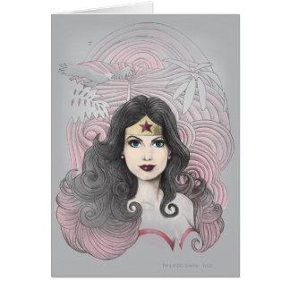Mujer Maravilla Eagle y árboles Tarjeton