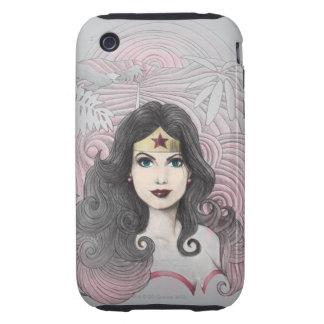 Mujer Maravilla Eagle y árboles Tough iPhone 3 Protector