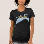 Mujer Maravilla en la nave espacial Camisetas