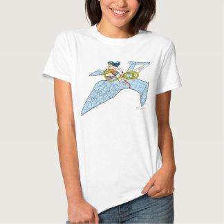 Mujer Maravilla en la nave espacial Remeras