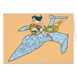 Mujer Maravilla en la nave espacial Tarjeta