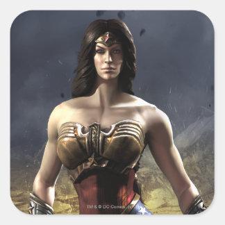 Mujer Maravilla Pegatina Cuadrada