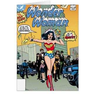 Mujer Maravilla que protagoniza la carabina de Pat Tarjeta De Felicitación