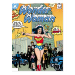 Mujer Maravilla que protagoniza la carabina de Pat Tarjeta Postal