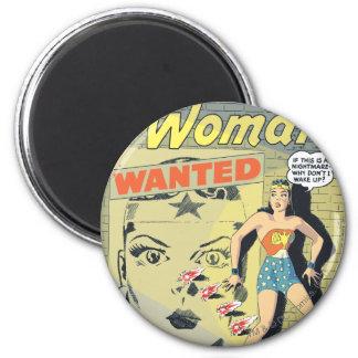 Mujer Maravilla querida Imán Redondo 5 Cm