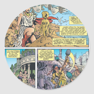 Mujer Maravilla Themyscira Etiquetas Redondas