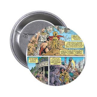 Mujer Maravilla Themyscira Pin Redondo De 2 Pulgadas
