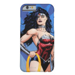 Mujer Maravilla y espada Funda De iPhone 6 Barely There