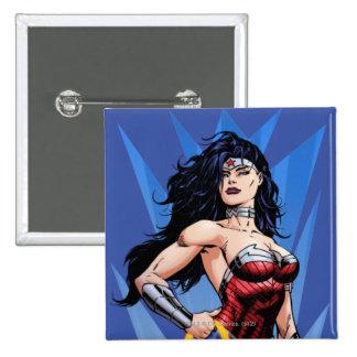 Mujer Maravilla y espada Pin Cuadrada 5 Cm
