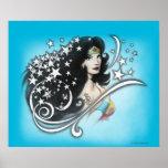 Mujer Maravilla y estrellas Poster