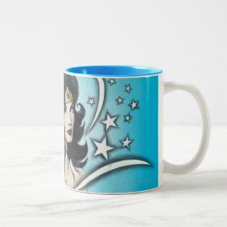 Mujer Maravilla y estrellas Tazas De Café