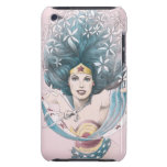 Mujer Maravilla y flores Case-Mate iPod Touch Protector