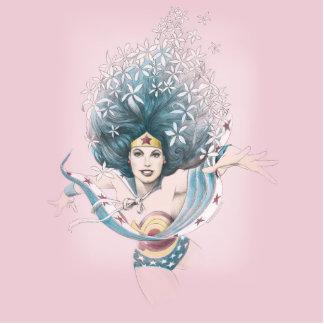 Mujer Maravilla y flores Esculturas Fotográficas