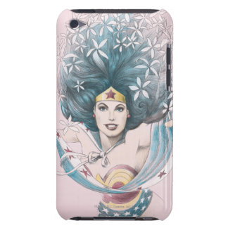 Mujer Maravilla y flores Barely There iPod Funda