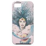 Mujer Maravilla y flores iPhone 5 Case-Mate Cárcasas