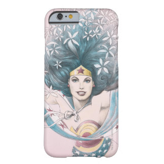Mujer Maravilla y flores Funda Barely There iPhone 6