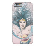 Mujer Maravilla y flores Funda Para iPhone 6 Barely There