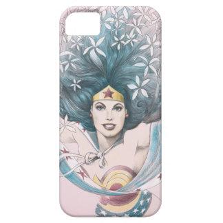 Mujer Maravilla y flores iPhone 5 Carcasas