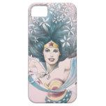 Mujer Maravilla y flores iPhone 5 Funda
