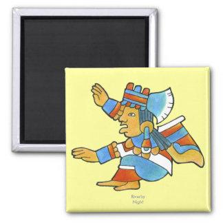 Mujer maya imán cuadrado
