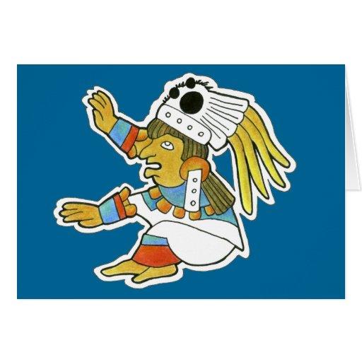 Mujer maya v.2 tarjeta de felicitación