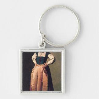 Mujer mayor, c.1618-19 llavero cuadrado plateado
