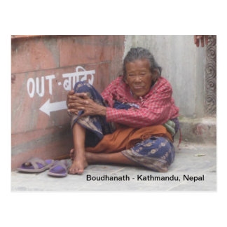 Mujer mayor de Boudha Postal