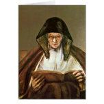 Mujer mayor de la lectura de Rembrandt Van Rijn Felicitacion