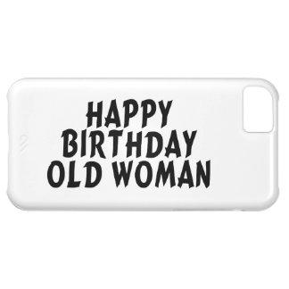 Mujer mayor del feliz cumpleaños funda para iPhone 5C