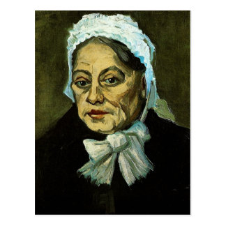 Mujer mayor/la partera, Vincent van Gogh Tarjeta Postal