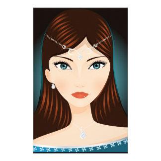 Mujer medieval papelería